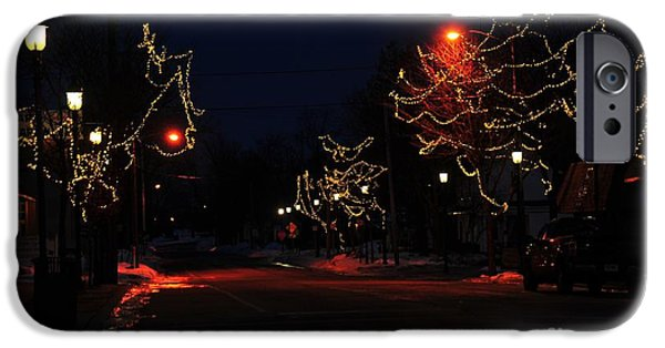 Clare Michigan iPhone Cases - Clare Michigan at Christmas 12 iPhone Case by Terri Gostola