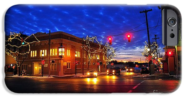 Clare Michigan iPhone Cases - Clare Michigan at Christmas 6 iPhone Case by Terri Gostola