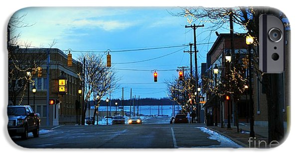 Clare Michigan iPhone Cases - Clare Michigan at Christmas 8 iPhone Case by Terri Gostola