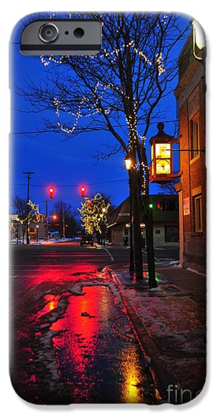Clare Michigan iPhone Cases - Clare Michigan at Christmas 9 iPhone Case by Terri Gostola