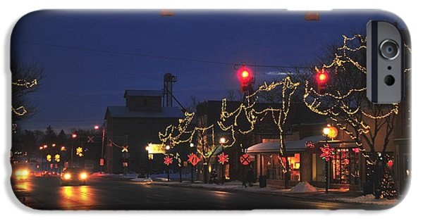 Clare Michigan iPhone Cases - Clare Michigan at Christmas  iPhone Case by Terri Gostola