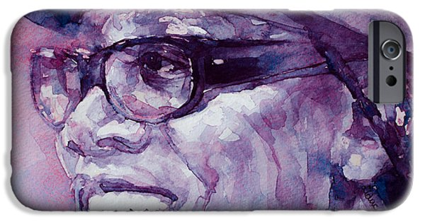 Clarence Clemons Paintings iPhone Cases - Clarence Clemons iPhone Case by Laur Iduc
