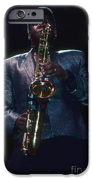 E Street Band iPhone Cases - Clarence Clemons of The E Street Band iPhone Case by Rich Fuscia