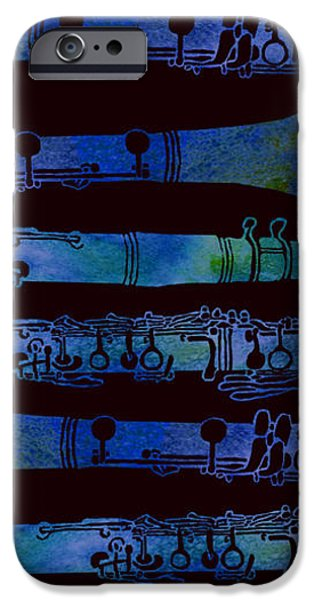 Sound Mixed Media iPhone Cases - Clarinet Keys iPhone Case by Jenny Armitage
