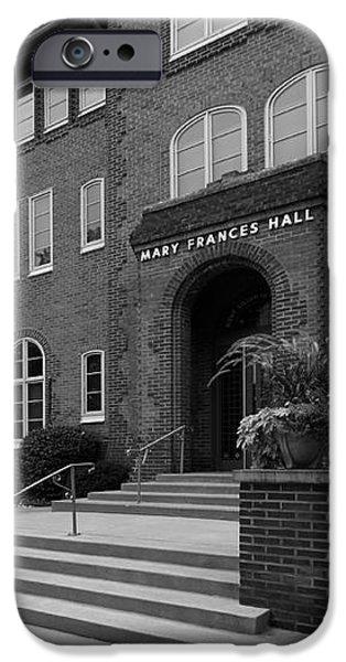 Clarke University Frances Hall iPhone Case by University Icons