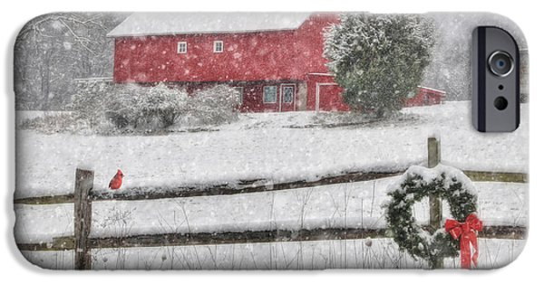 Winter Storm iPhone Cases - Clarks Valley Christmas 2 iPhone Case by Lori Deiter