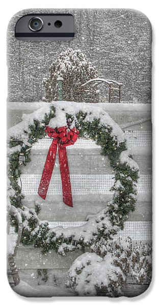 Clarks Valley Christmas 3 iPhone Case by Lori Deiter