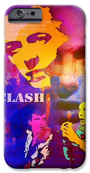 Recently Sold -  - Fury iPhone Cases - Clash Know Your Rights iPhone Case by Neil Finnemore