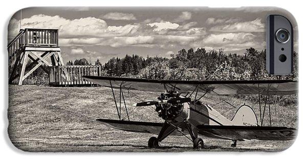 Aeronautics iPhone Cases - Classic 1931 WACO UBF-2 Biplane    iPhone Case by Keith Webber Jr