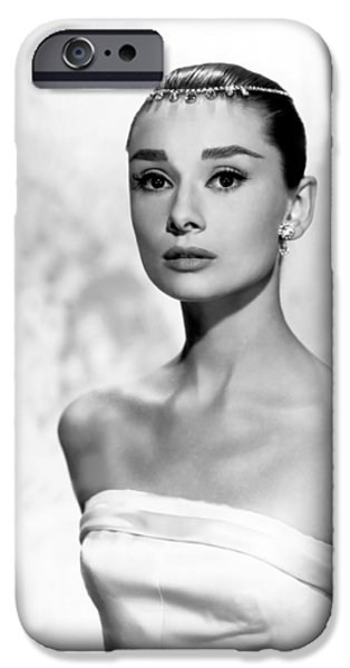 1950s Movies iPhone Cases - Classic Audrey Hepburn iPhone Case by Nomad Art And  Design