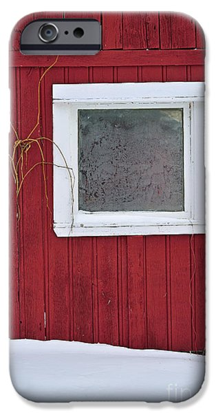 Red Barn In Winter Photographs iPhone Cases - Classic Canada iPhone Case by Joshua McCullough