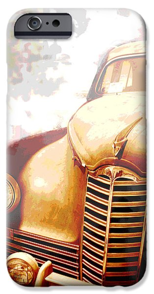 Rusted Cars iPhone Cases - Classic Car 1940s Packard  iPhone Case by Ann Powell