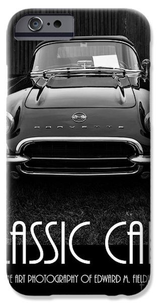 Slick iPhone Cases - Classic Cars Front Cover iPhone Case by Edward Fielding