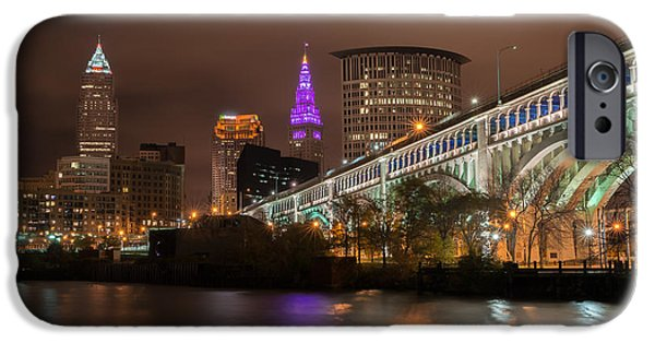Flag iPhone Cases - Classic Cleveland iPhone Case by Brad Hartig - BTH Photography