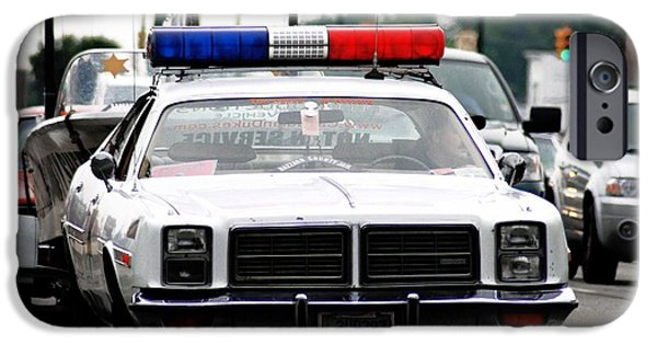 Police iPhone Cases - Classic cop car iPhone Case by Optical Playground By MP Ray