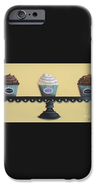 Classic Cupcakes iPhone Case by Catherine Holman