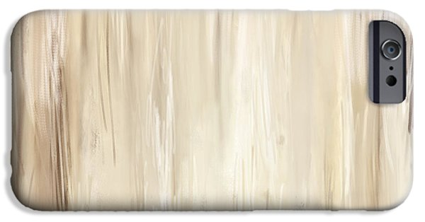 Beige Abstract iPhone Cases - Classic Essence - Distressed Art iPhone Case by Lourry Legarde