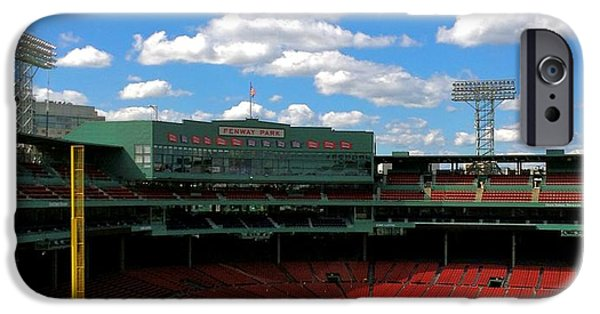 Boston Red Sox iPhone Cases - Classic Fenway I  Fenway Park iPhone Case by Iconic Images Art Gallery David Pucciarelli