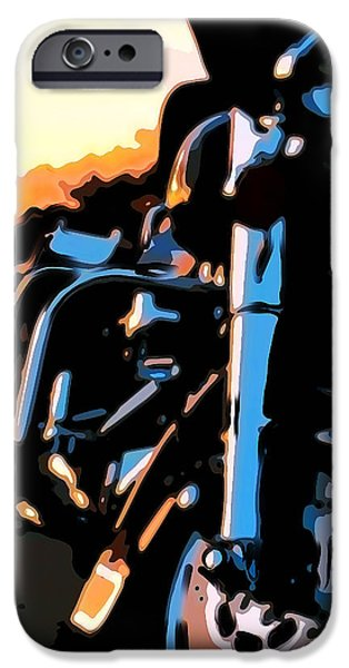 Classic Harley iPhone Case by Michael Pickett