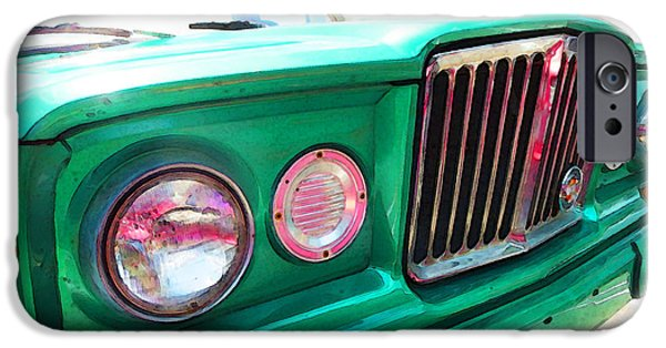 Jeep iPhone Cases - Classic Jeep J3000 4 Wheel Drive by Sharon Cummings iPhone Case by Sharon Cummings