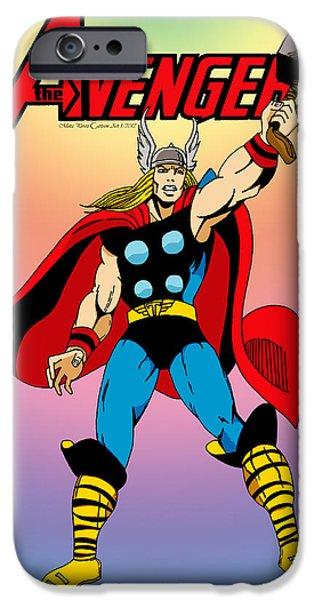 Classic Mighty Thor iPhone Case by Mista Perez Cartoon Art