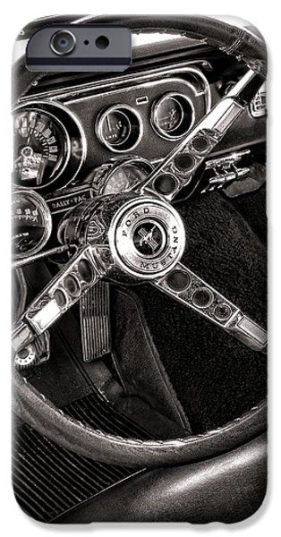 Classic Mustang iPhone Case by Olivier Le Queinec
