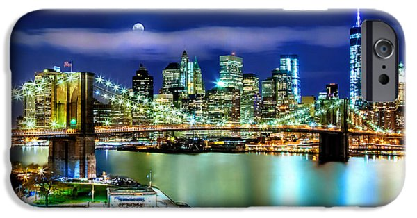 Hudson River iPhone Cases - Classic New York Skyline iPhone Case by Az Jackson