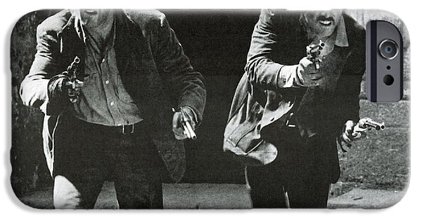 Butch Cassidy iPhone Cases - Classic Photo of Butch Cassidy and the Sundance Kid iPhone Case by Nomad Art And  Design
