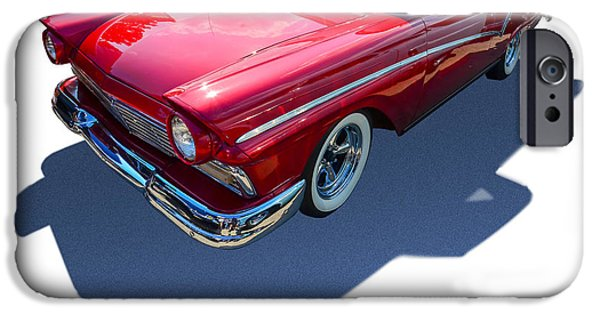 Pinstripes iPhone Cases - Classic Red Truck iPhone Case by Gianfranco Weiss