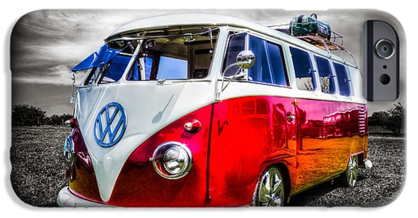 Volks iPhone Cases - Classic red VW Campavan iPhone Case by Ian Hufton