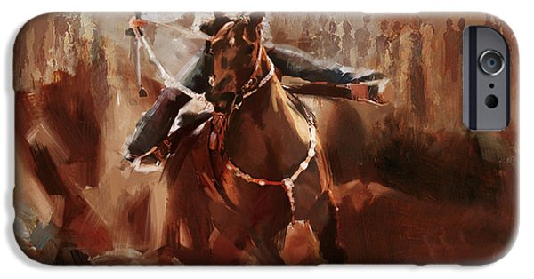 Arlington iPhone Cases - Classic Rodeo 1 iPhone Case by Maryam Mughal