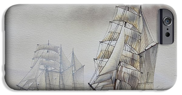 Tall Ship iPhone Cases - Classic Sail iPhone Case by James Williamson