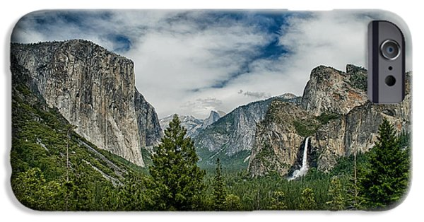 Yosemite National Park iPhone Cases - Classic Tunnel View iPhone Case by Cat Connor