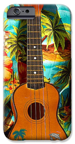 Ukelele iPhone Cases - Classic Ukelele iPhone Case by Ron Regalado