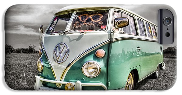 Volks iPhone Cases - Classic VW Campavan iPhone Case by Ian Hufton