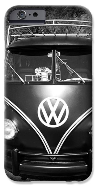 Old Cars iPhone Cases - Classic VW iPhone Case by Laurie Perry