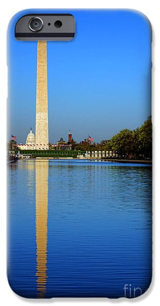 D.c. iPhone Cases - Classic Washington iPhone Case by Olivier Le Queinec