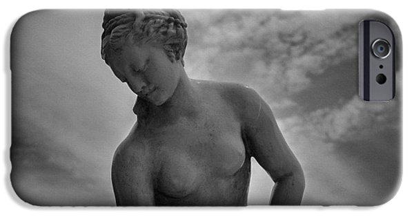 Monochrome iPhone Cases - Classic Woman Statue iPhone Case by Setsiri Silapasuwanchai