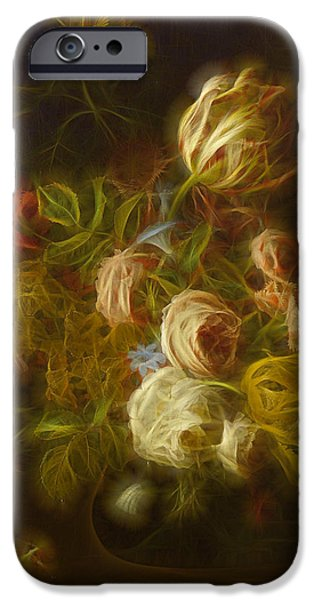Floral Digital Art iPhone Cases - Classica Modern - m01 iPhone Case by Variance Collections