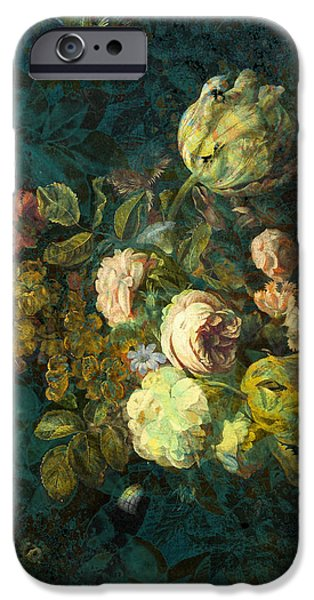Floral Digital Art iPhone Cases - Classical Bouquet - s04bt01 iPhone Case by Variance Collections