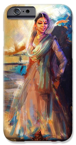 Continent iPhone Cases - Classical Dance Art 5 iPhone Case by Maryam Mughal