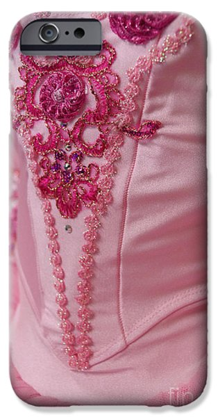 Ballet Dancers iPhone Cases - Classically Costumed IX iPhone Case by Cassandra Buckley