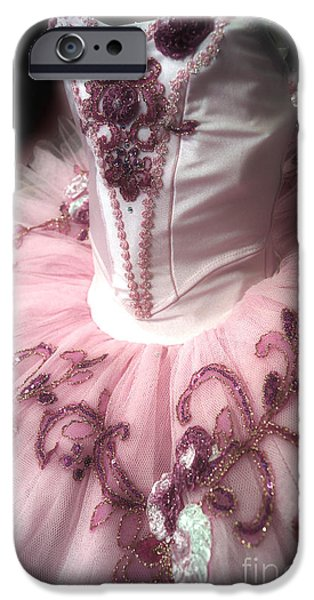Dance Ballet Roses iPhone Cases - Classically Costumed X iPhone Case by Cassandra Buckley