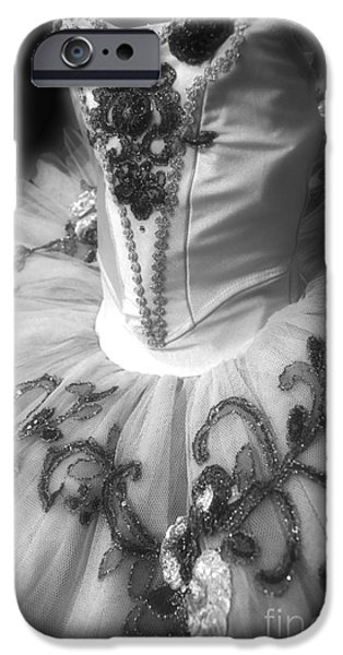 Dance Ballet Roses iPhone Cases - Classically Costumed X Monochrome iPhone Case by Cassandra Buckley