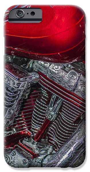 Airbrush iPhone Cases - Classy Harley Davidson iPhone Case by Jack Zulli