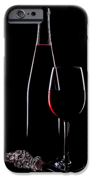 Wine Bottles iPhone Cases - Classy iPhone Case by Marcia Colelli