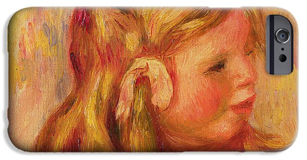 Youthful iPhone Cases - Claude Renoir iPhone Case by Pierre Auguste Renoir