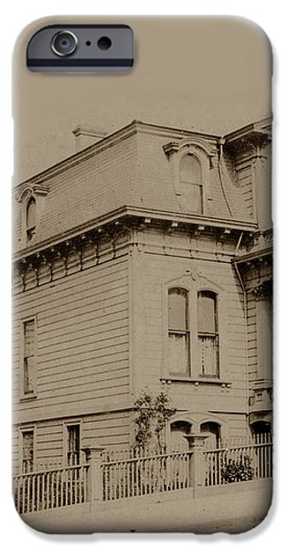 Clay and Hyde street's San Francisco Built in 1874 burned in the 1906 fire iPhone Case by California Views Mr Pat Hathaway Archives