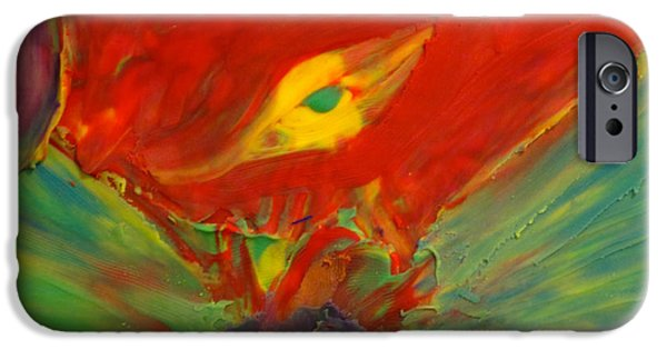 Red Abstract Sculptures iPhone Cases - Clay Play 2 - volcanic iPhone Case by Steve Sommers