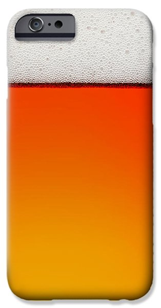 Close iPhone Cases - Clean Beer Background iPhone Case by Johan Swanepoel